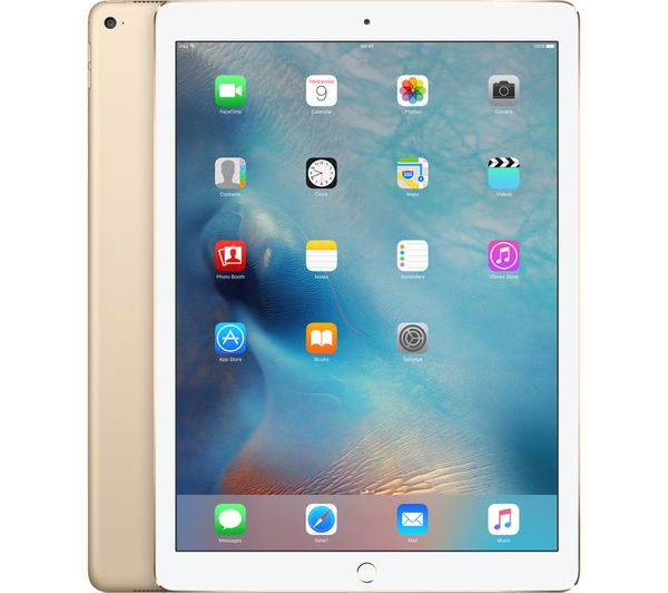 "APPLE  12.9"" iPad Pro - 128 GB, Gold +  Pencil - White"