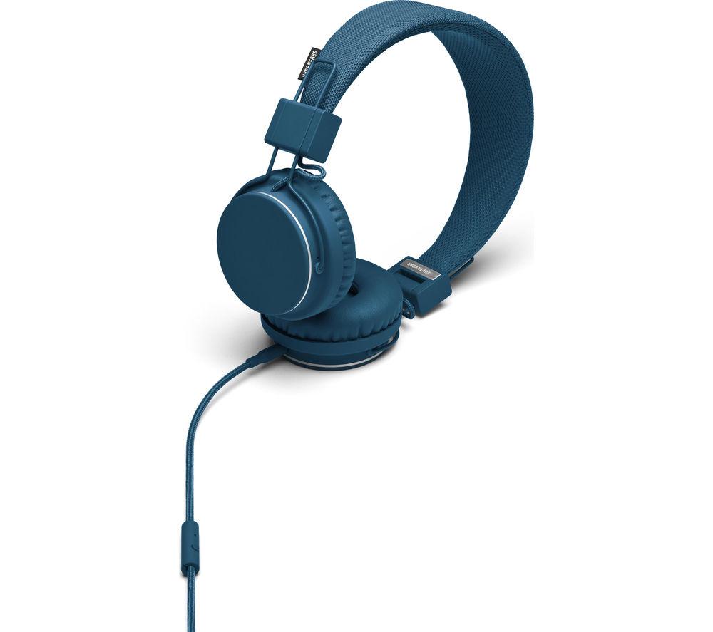 URBANEARS Plattan Headphones - Indigo + iPhone 7 Lightning to 3.5 mm Headphone Jack Adapter