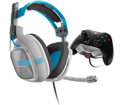 ASTRO GAMING A40 7.1 Gaming Headset - Grey & Blue