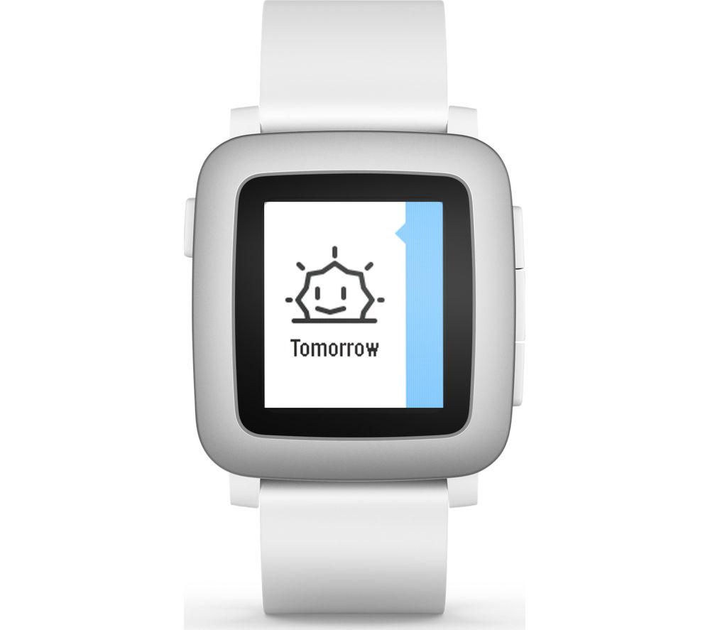 Pebble Time SmartWatch - White, White
