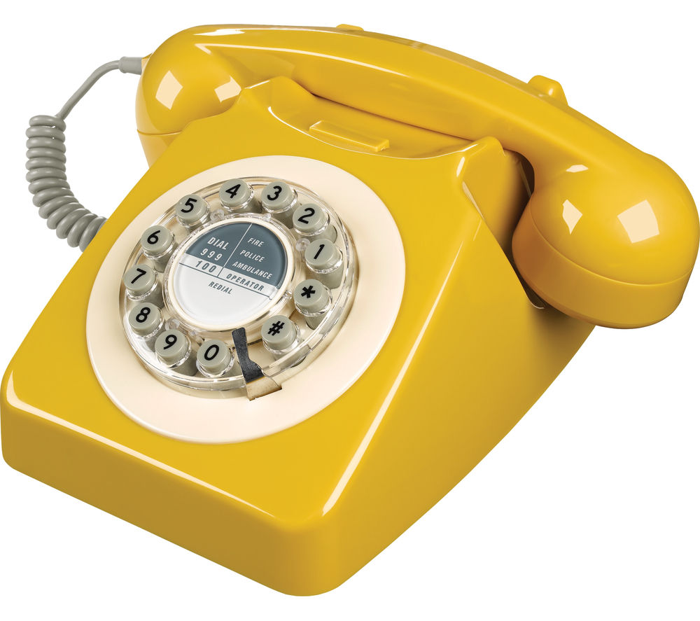WILD & WOLF 746 Corded Phone - English Mustard