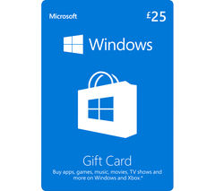 MICROSOFT Windows Gift Card - £25
