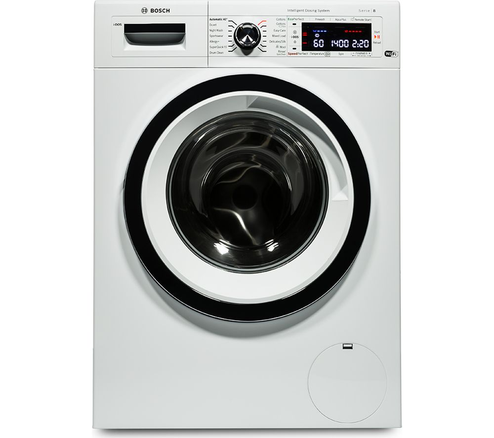 BOSCH  Serie 8 iDOS WAWH8660GB Smart Washing Machine  White White