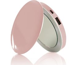 HYPER Pearl Make-Up Mirror 3K Portable Power Bank - Rose Gold