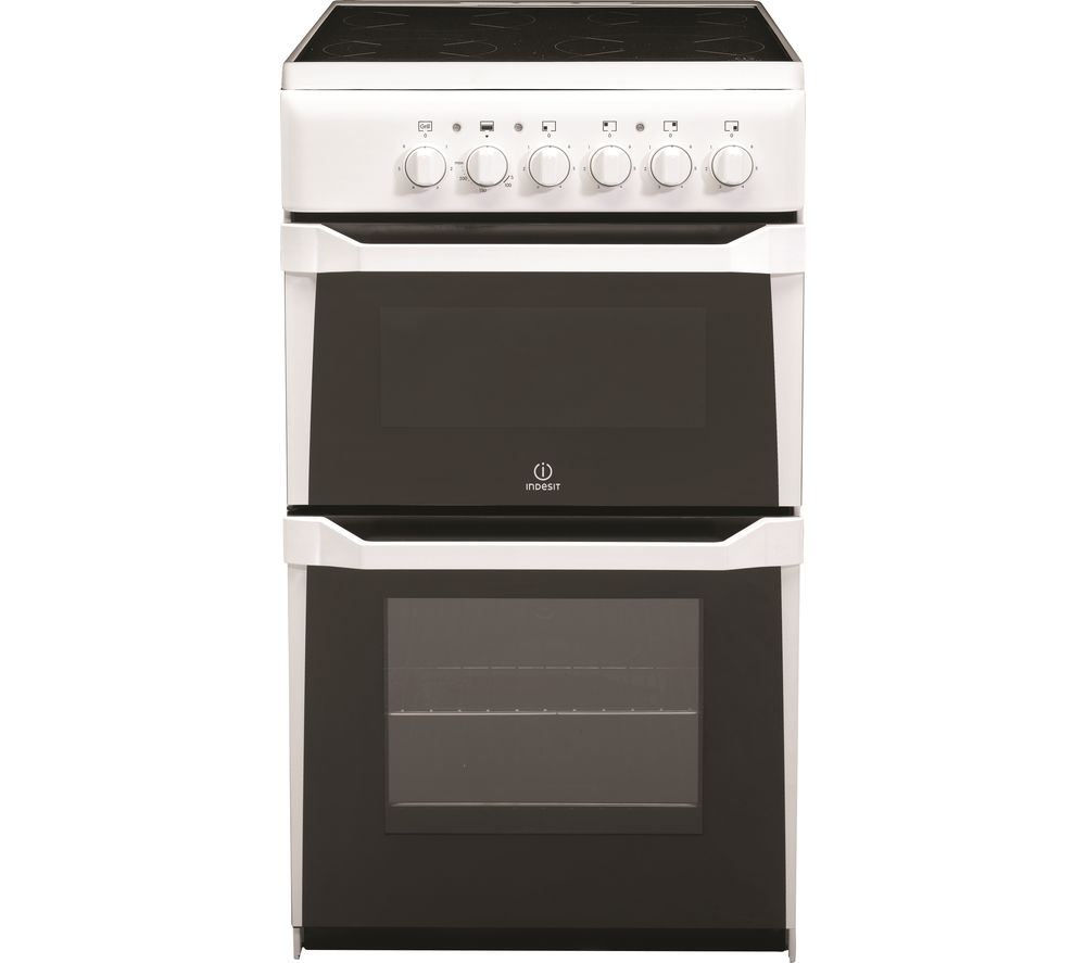 buy indesit it50c w s 50 cm electric cooker white free delivery currys. Black Bedroom Furniture Sets. Home Design Ideas
