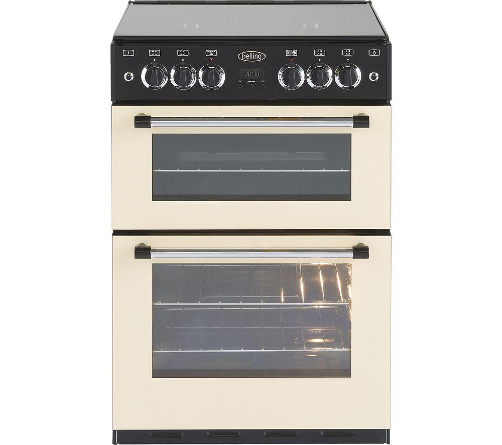 BELLING Classic 60 cm Gas Cooker - Cream & Black