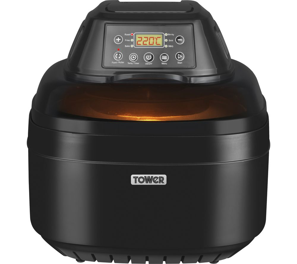 buy tower t17004 digital air fryer black free delivery currys. Black Bedroom Furniture Sets. Home Design Ideas