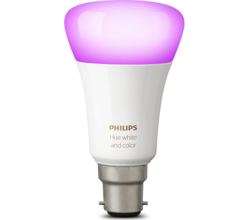 buy philips hue white colour ambience wireless bulb b22 free delivery currys. Black Bedroom Furniture Sets. Home Design Ideas