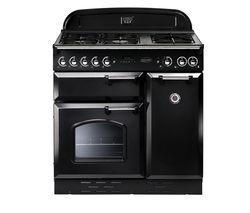 RANGEMASTER Classic Deluxe 100 Dual Fuel Range Cooker - Black