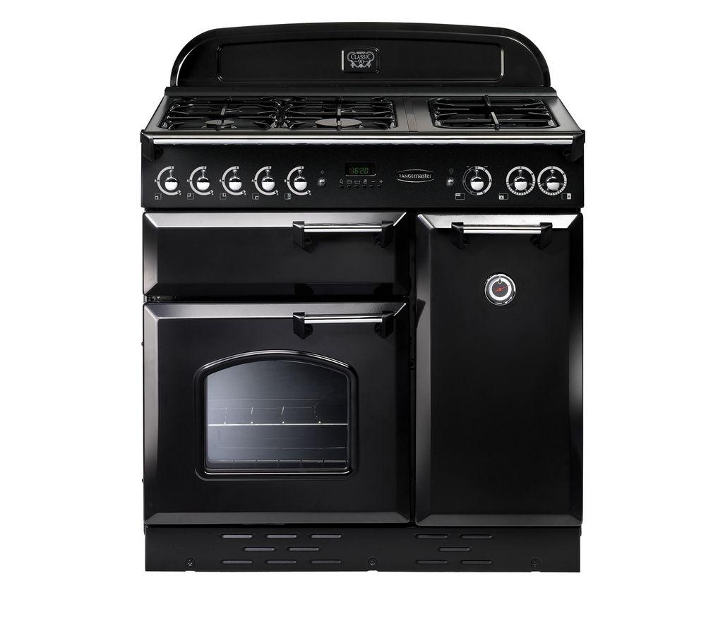 RANGEMASTER Classic Deluxe 100 Dual Fuel Range Cooker  Black Black