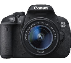CANON EOS 700D DSLR Camera with 18-55 mm f/3.5-5.6 Lens - Black