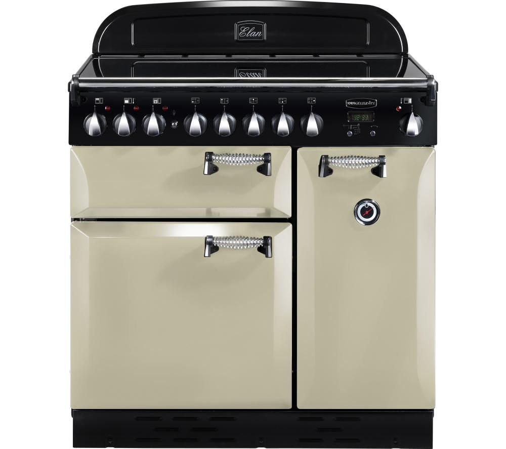 RANGEMASTER Elan 90 Electric Ceramic Range Cooker - Cream & Chrome