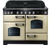 RANGEMASTER Classic Deluxe 110 Electric Induction Range Cooker - Cream & Chrome