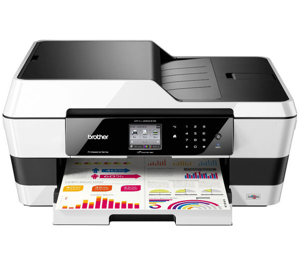 Image of BROTHER MFCJ6520DW Wireless A3 All-in-One Inkjet Printer