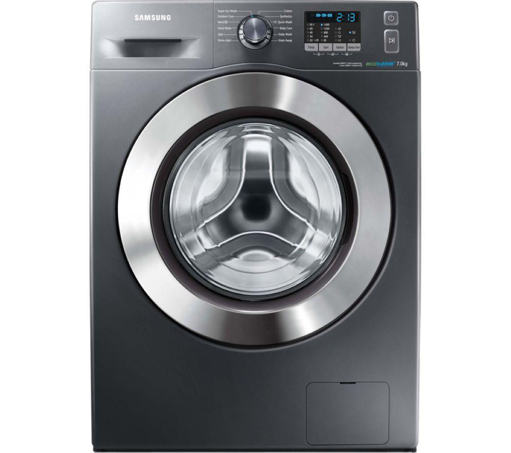 Image of Samsung ecobubble WF70F5E2W4X Washing Machine - Graphite, Graphite