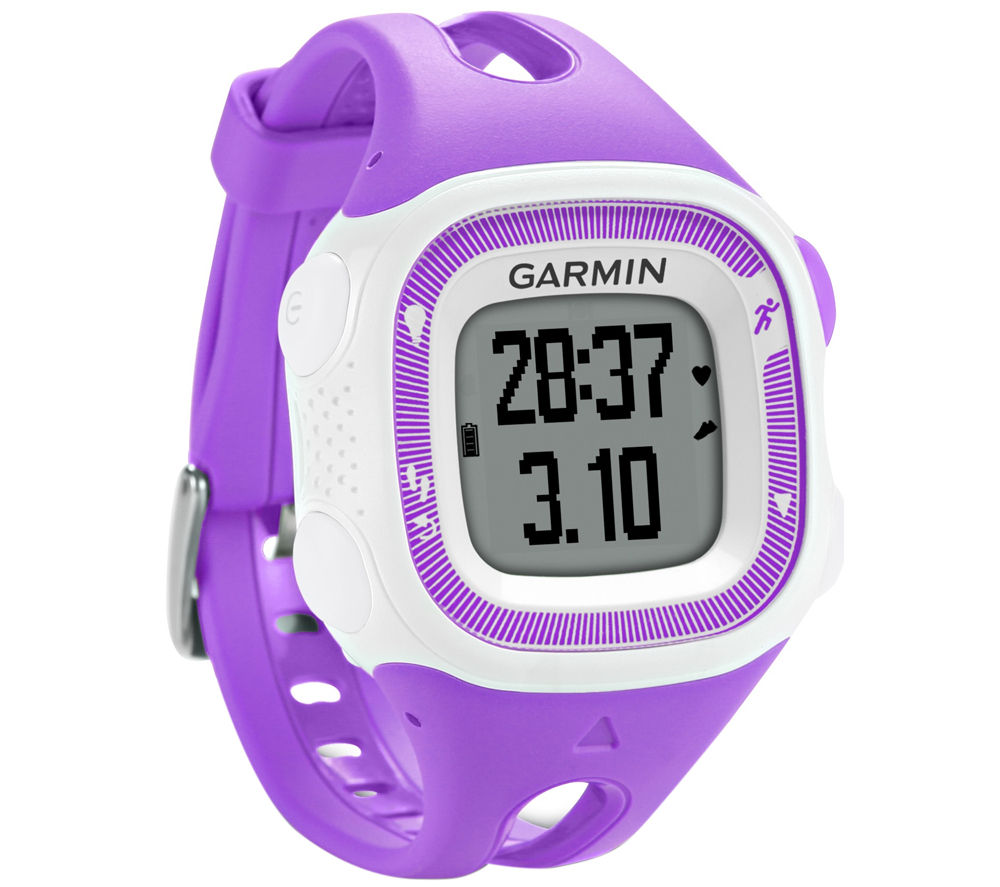 GARMIN Forerunner 15 GPS Running Watch with Heart-rate Monitor - Violet & White