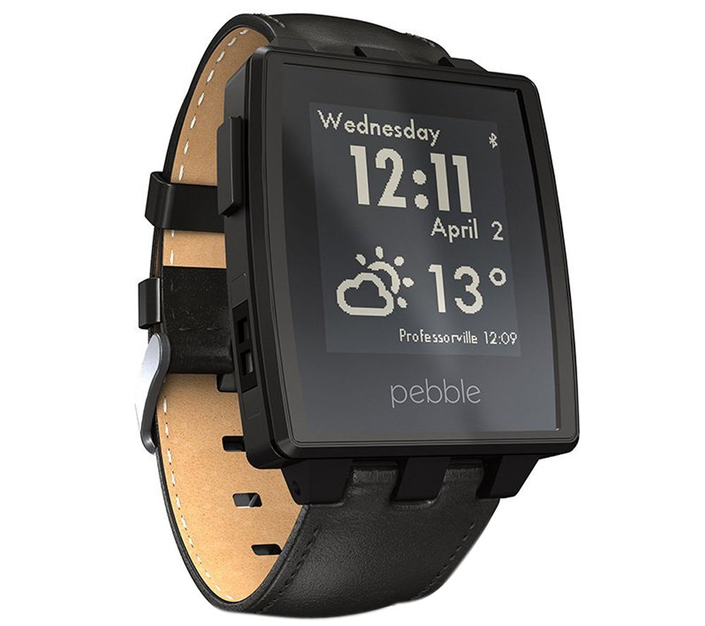 Buy pebble steel smart watch matte black free delivery currys for Pebble watches