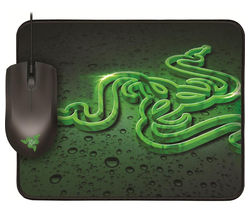 RAZER Abyssus Optical Gaming Mouse and Goliathus Mouse Mat Bundle - Black & Green