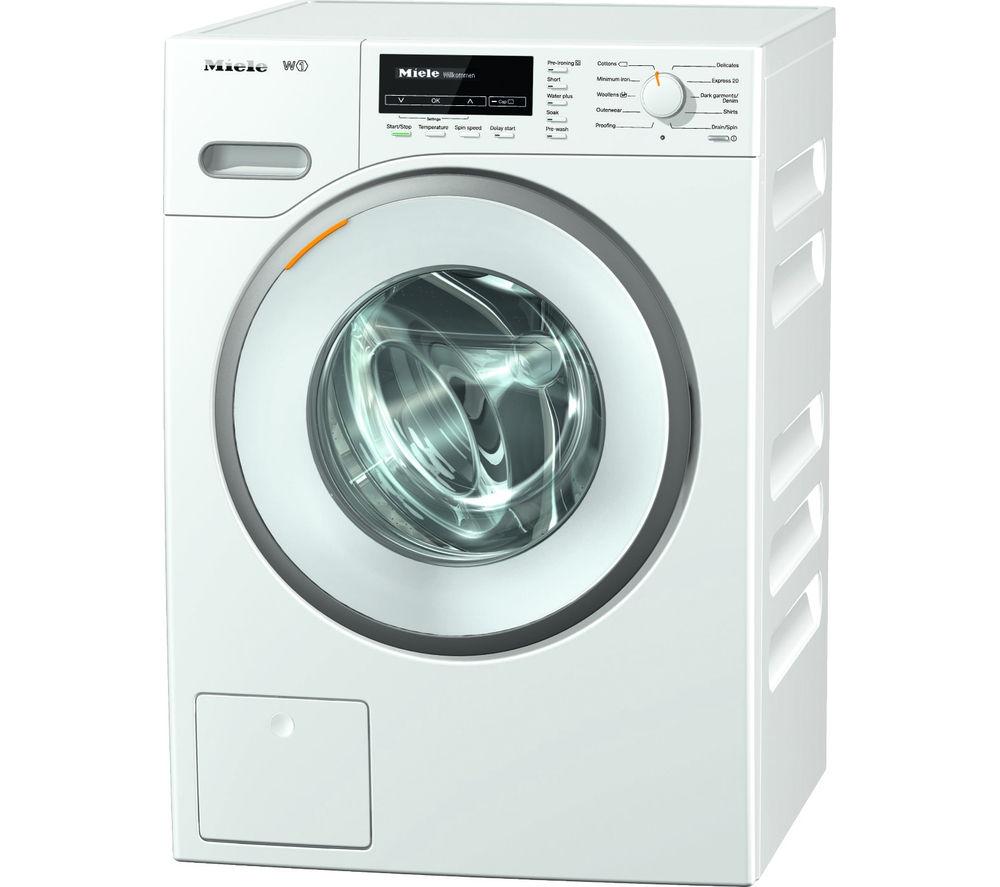 MIELE  WMB120 Washing Machine - White +  GTN38250HGCW Heat Pump Tumble Dryer - White