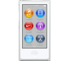 APPLE iPod nano - 16 GB, 7th Generation, White & Silver