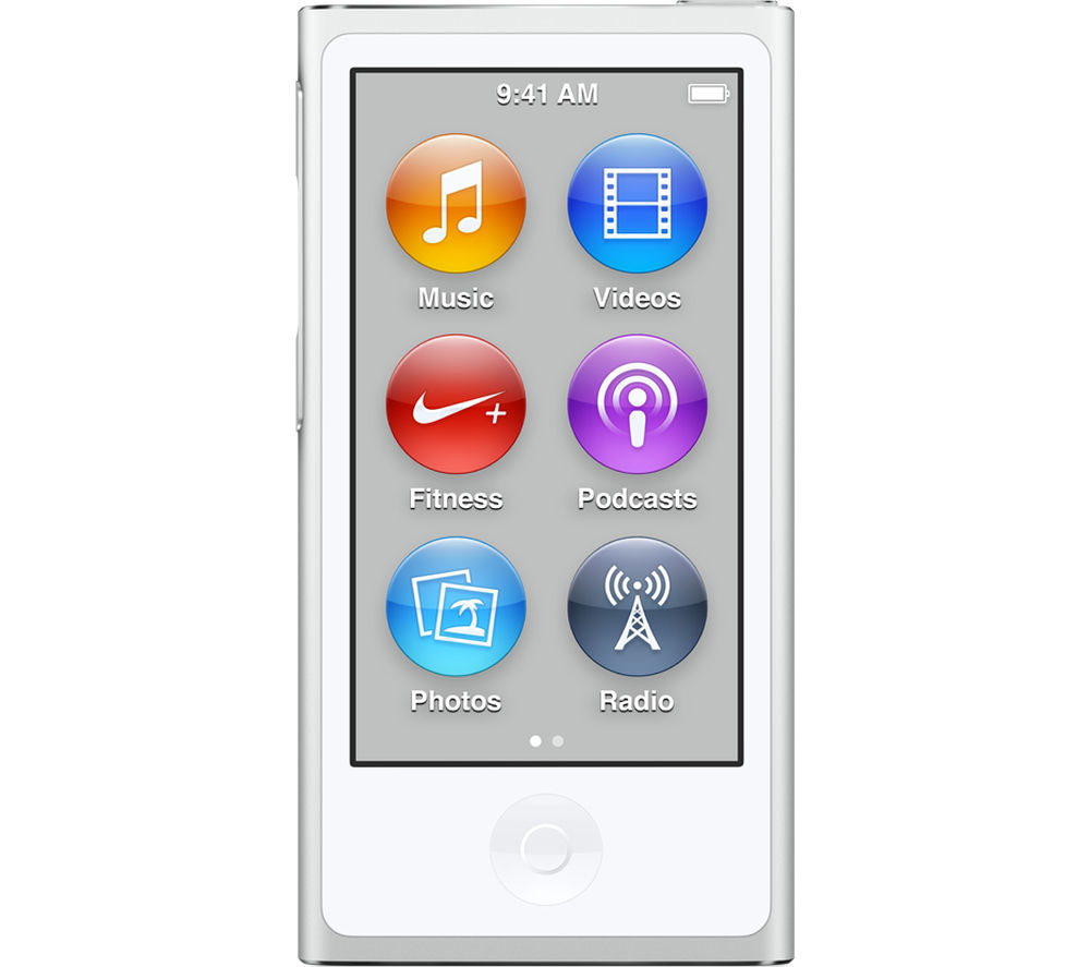Image of APPLE iPod nano - 16 GB, 7th Generation, White & Silver, White