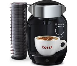 BOSCH TAS7002GB Caddy Hot Drinks Machine - Black & Chrome