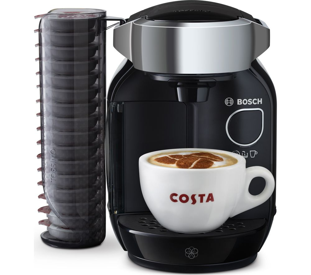 BOSCH  TAS7002GB Caddy Hot Drinks Machine  Black & Chrome Black
