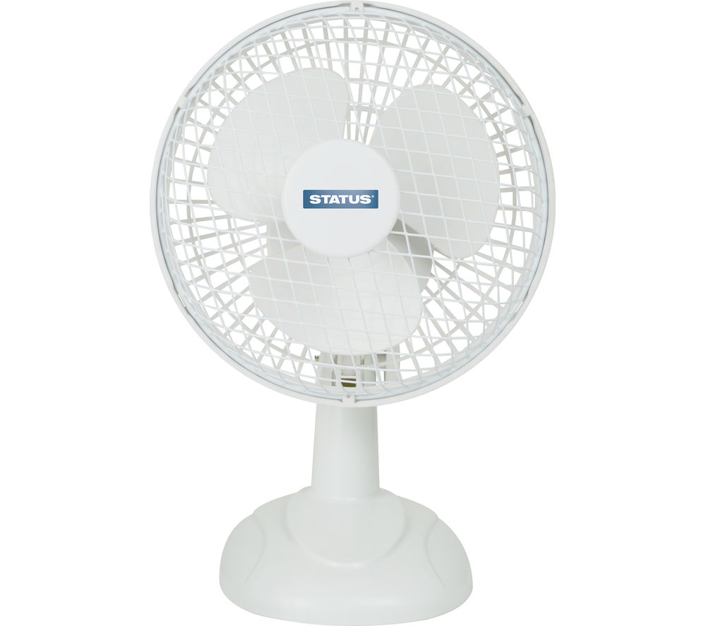 "STATUS 6"" Desk Fan - White"