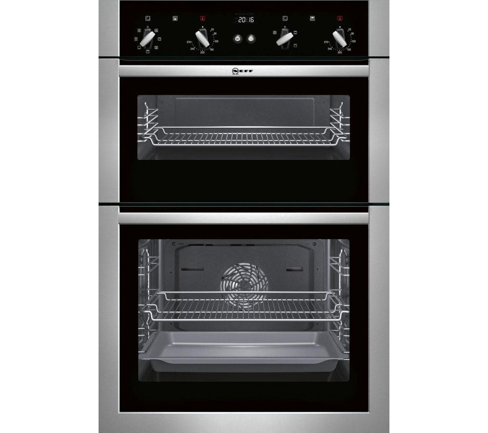 buy neff u14m42n5gb electric double oven stainless steel free delivery currys. Black Bedroom Furniture Sets. Home Design Ideas