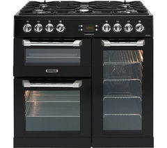 LEISURE Cuisinemaster CS90F530K Dual Fuel Range Cooker - Black & Chrome