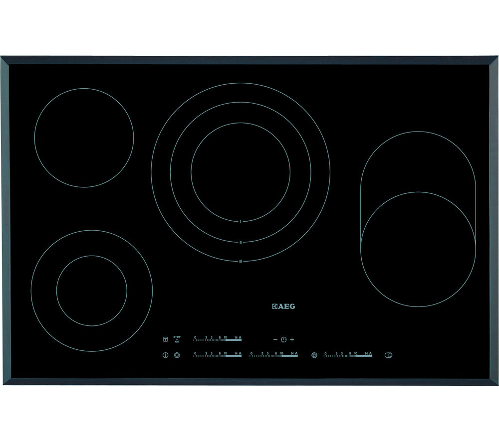 AEG  HK854080FB Electric Ceramic Hob  Black Black