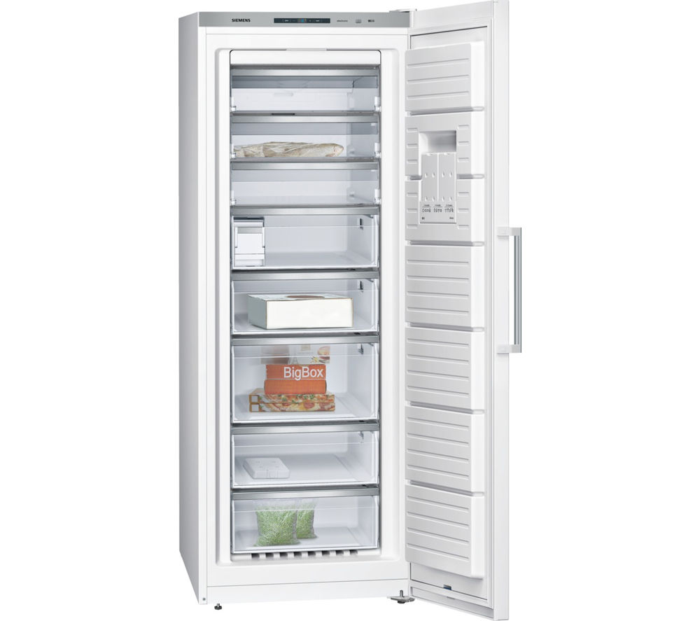 Buy siemens iq500 gs58naw41 tall freezer white free for Congelateur armoire 300 litres