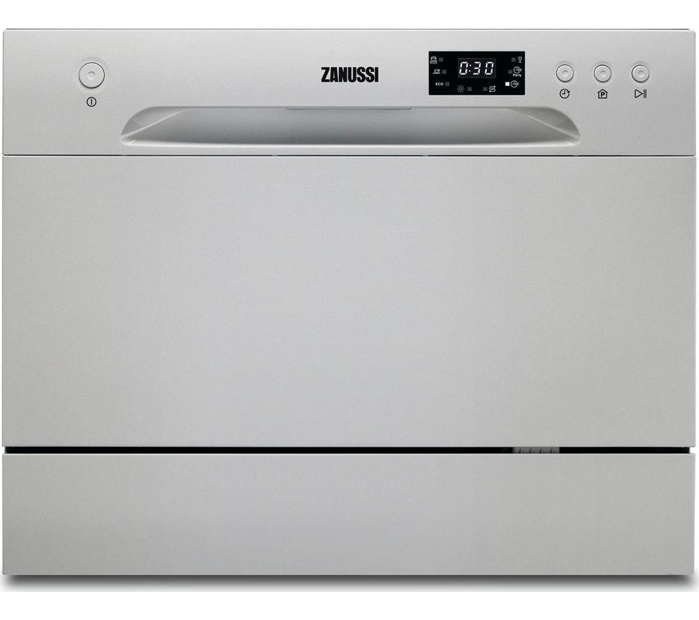 ZANUSSI  ZDM17301SA Compact Dishwasher  Silver Silver