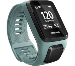 TOMTOM Spark 3 Cardio GPS Fitness Watch - Small, Aqua