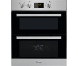 INDESIT Aria IDU 6340 IX Electric Built-under Double Oven - Stainless Steel