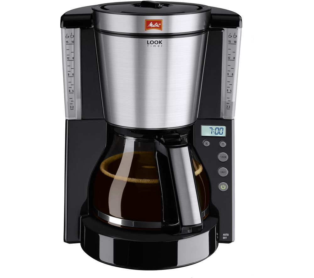 Coffee Maker At Currys : Buy MELITTA Look IV Timer Filter Coffee Machine - Black Free Delivery Currys