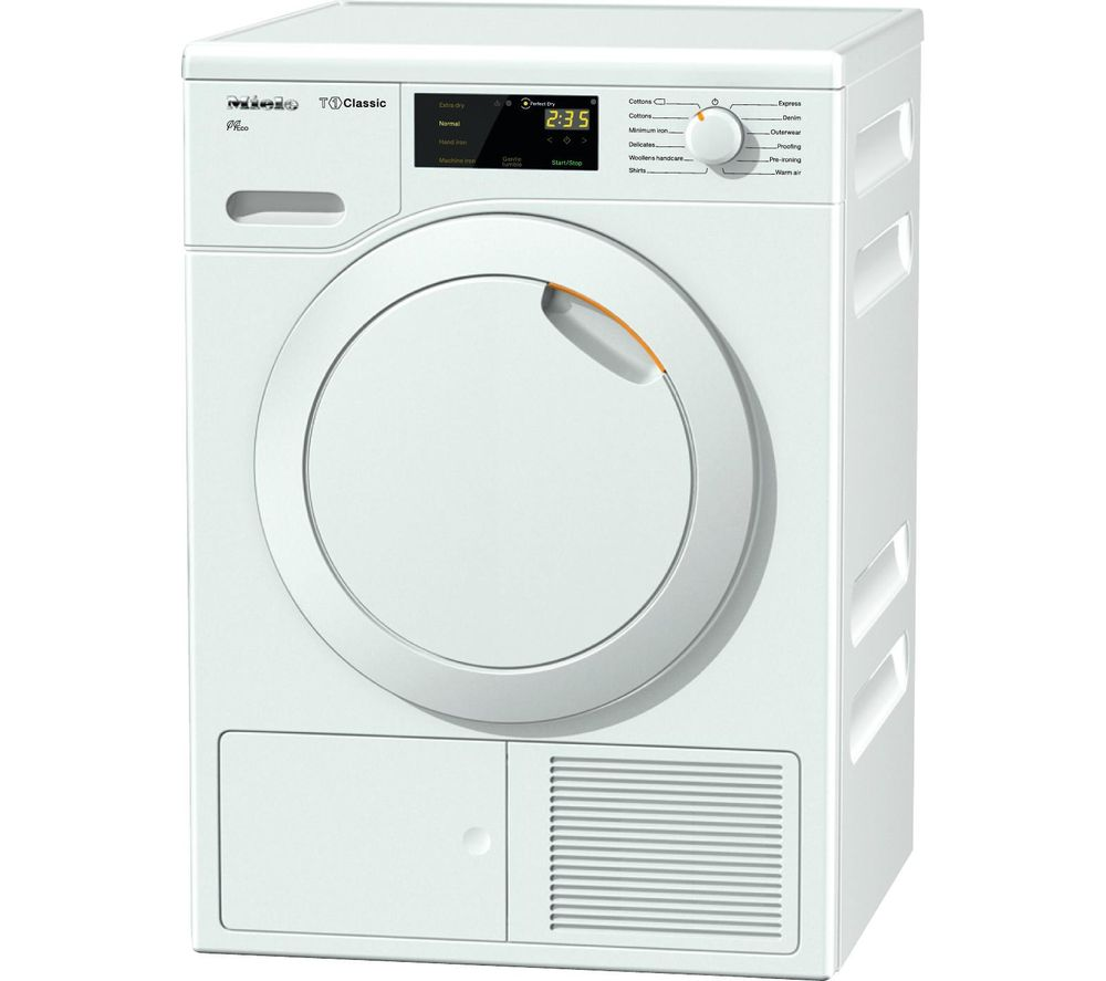 MIELE Eco TDB120WP Heat Pump Tumble Dryer  White White