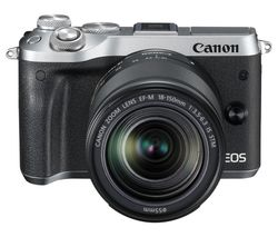 CANON EOS M6 Mirrorless Camera with 18-150 mm f/3.5-6.3 Wide-angle Zoom Lens - Silver