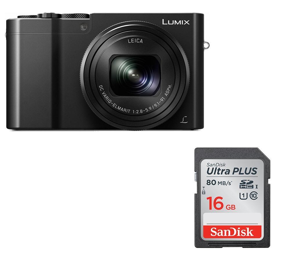 PANASONIC Lumix DMC-TZ100EB-K High Performance Compact Camera & Memory Card Bundle