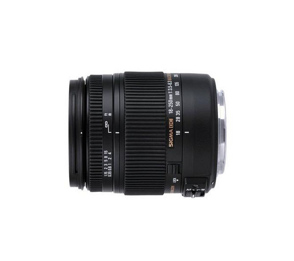 Image of SIGMA 18-250 mm f/3.5-6.3 DC HSM OS Telephoto Zoom Lens with Macro - for Canon