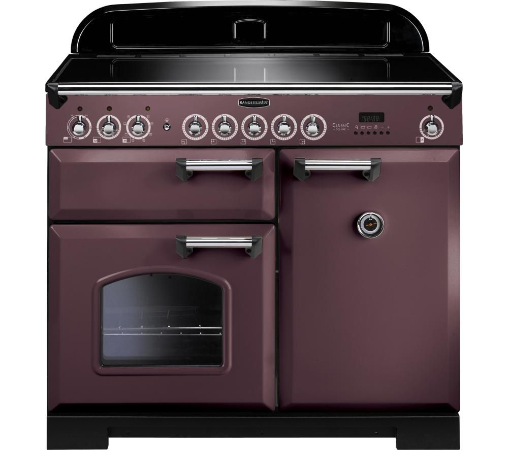 RANGEMASTER Classic Deluxe 100 Electric Induction Range Cooker - Taupe & Chrome