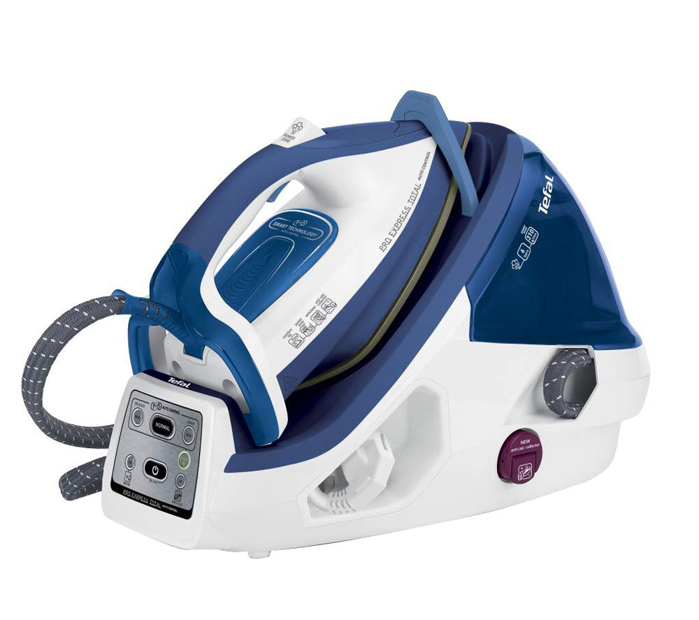 Tefal Pro Express GV8930 Total Auto Control Steam Generator Iron  White & Blue White