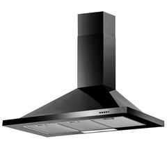 BAUMATIC F100.2BL Chimney Cooker Hood - Black