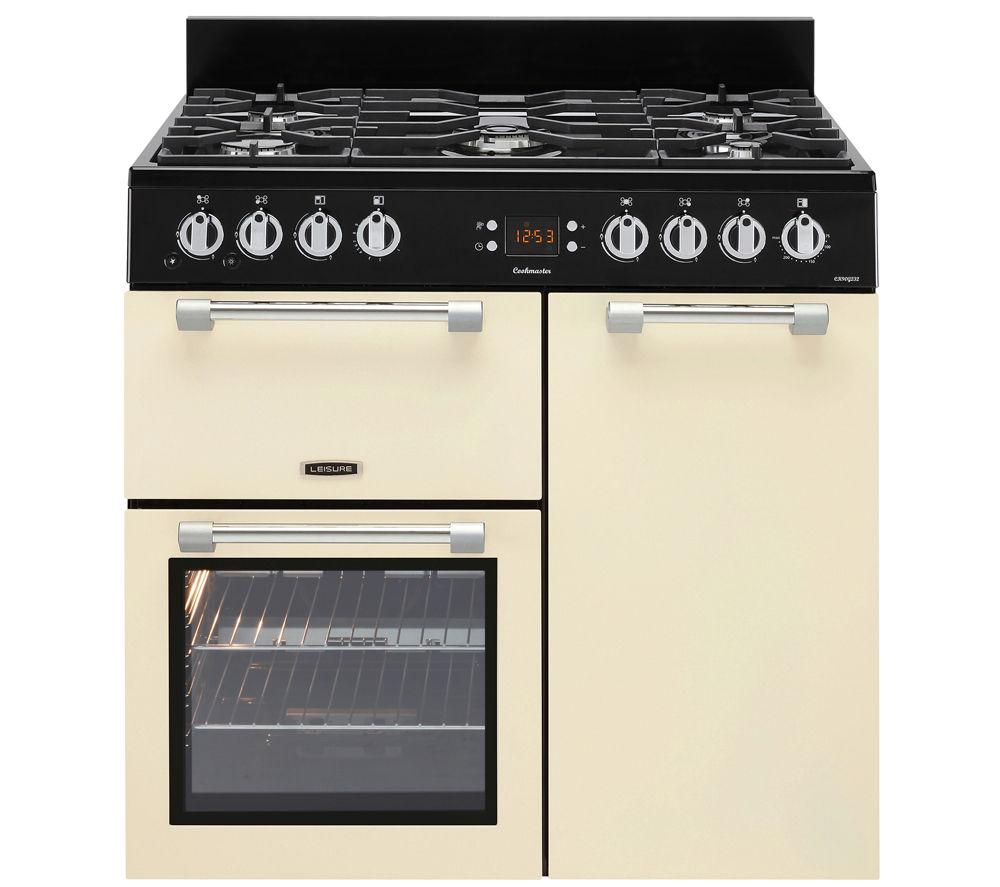 LEISURE Cookmaster CK90G232C Gas Range Cooker - Cream