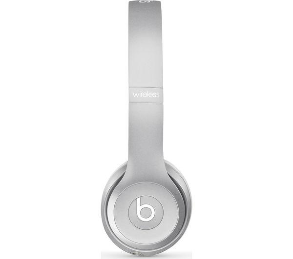 Image of BEATS Solo 2 Wireless Bluetooth Headphones - Silver