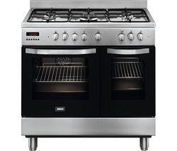 ZANUSSI ZCK98307XA 90 cm Dual Fuel Range Cooker - Stainless Steel