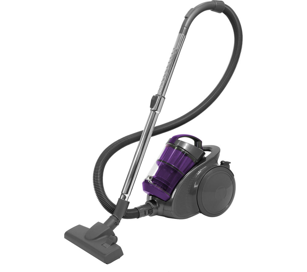 RUSSELL HOBBS  Turbo Cyclonic Pro RHCV2002 Bagless Cylinder Vacuum Cleaner  Gunmetal Grey & Purple Grey