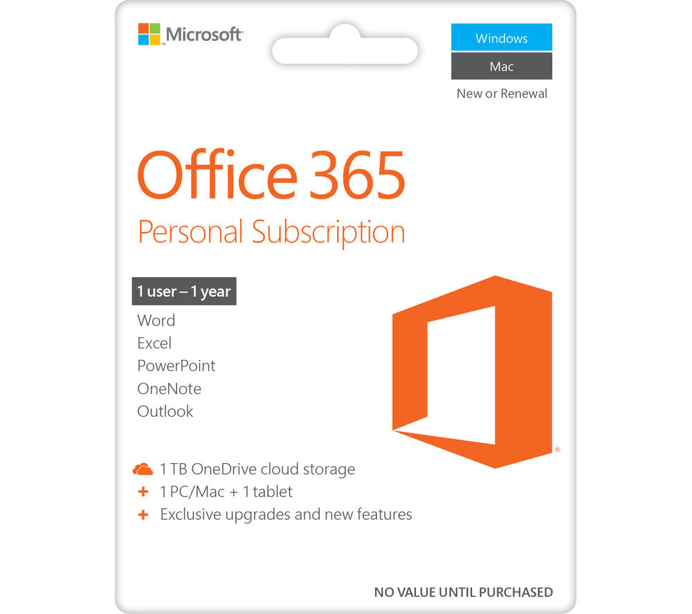 MICROSOFT Office 365 Personal Deals | PC World