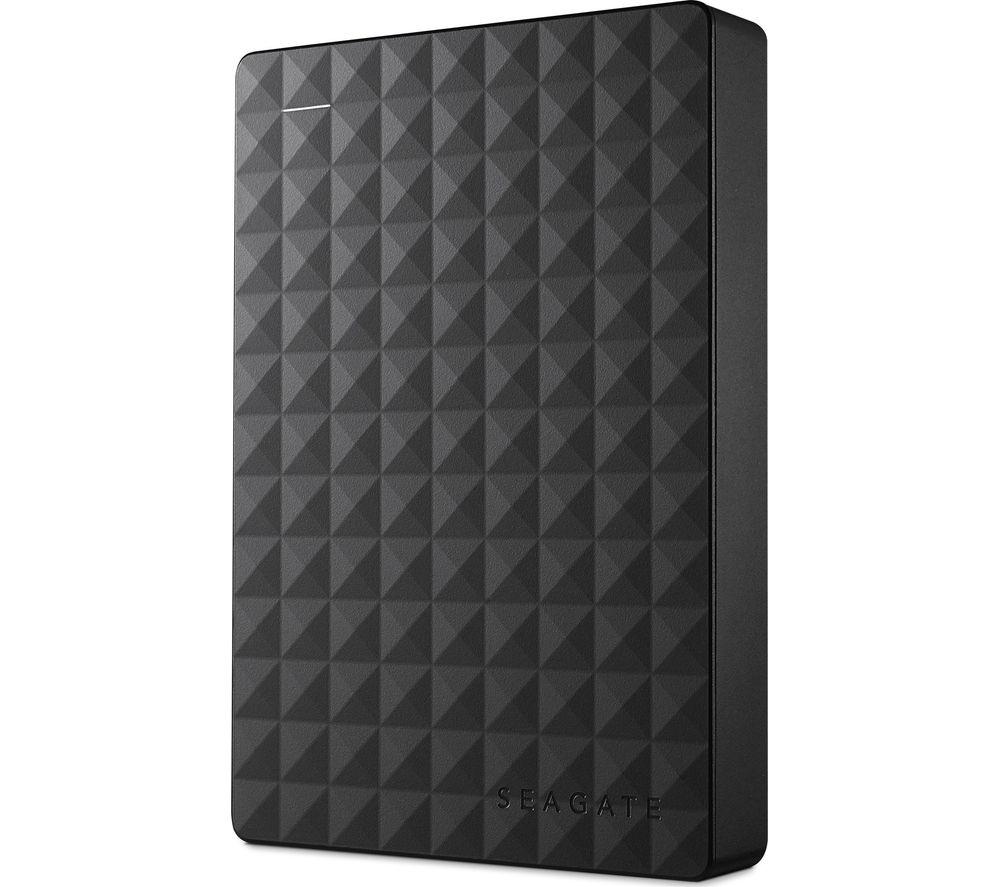 SEAGATE Expansion Portable Hard Drive - 4 TB, Black