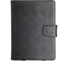 "TUCANO Uncino 7 - 8"" Universal Rotating Leather Tablet Case - Black"